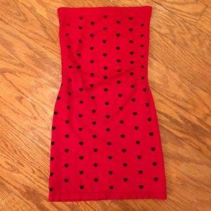 NWT Red Strapless Body-con Mini Dress Size XS